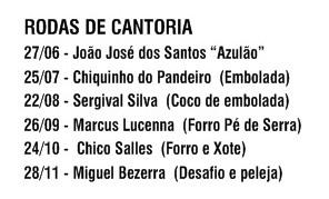 Programa das Rodas de Cantoria