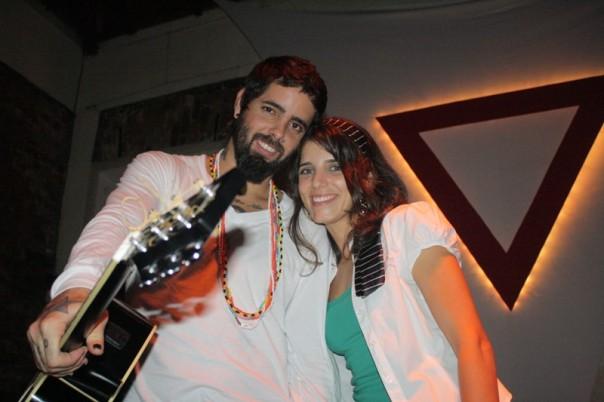 Tico Santa Cruz e Lanna Rodrigues