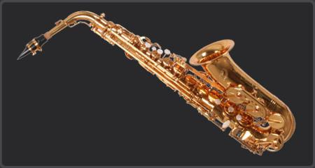 O modelo de sax alto CSA51 tem acabamento em laqueado dourado, parafusos de aço inoxidável, apoio do polegar direito metálico regulável e o esquerdo fixo, campana removível com braçadeira e botão de digitação madrepérola.