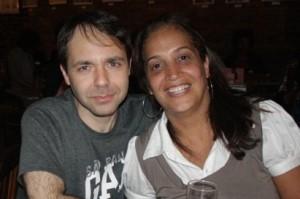 Carol Góes e Carlos, gerente ProShows